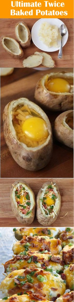 Awesome recipes:Ultimate Twice Baked Potatoes