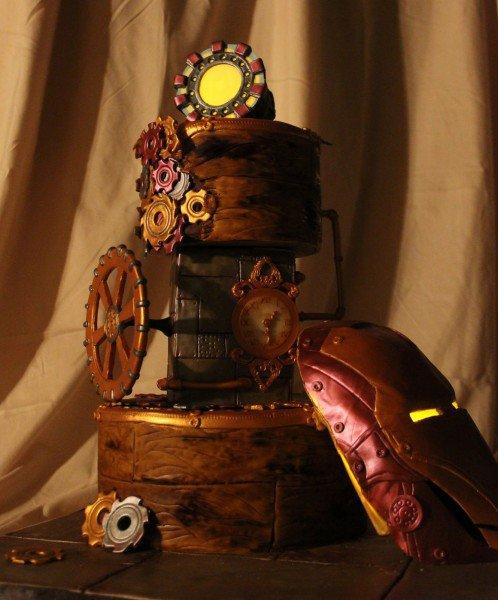 Glow-In-The-Dark Steampunk Iron Man Birthday Cake