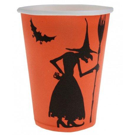 Gobelet carton sorcière Halloween les 10 : Gobelets Halloween jetables