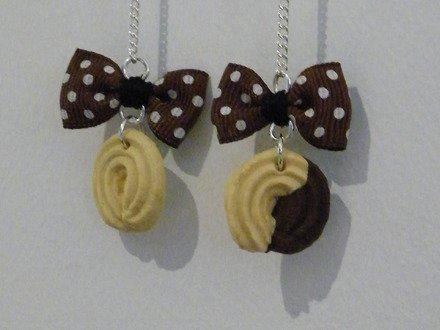 Boucle d'oreille biscuit en fimo Argent 925 : Boucles d'oreille par jl-bijoux-creation
