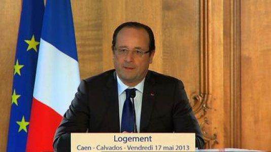 Discours du président de la République consacré au logement à Caen