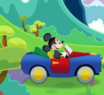 Mickey Mouse Car Driving Challenge