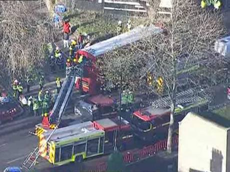Kennington bus crash: 32 injured after double decker hits tree in south London