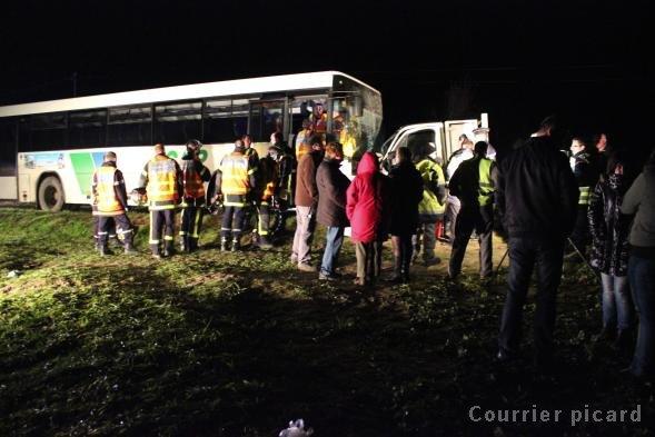 Bus scolaire contre camionnette : 11 enfants légèrement blessés