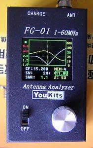 YouKits FG-01MK11 ANTENNA ANALYSER (1MHz-72MHz) WITH GRAPHIC DISPLAY+(BATT+CHGR)