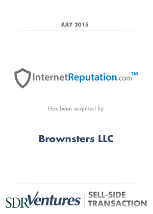 SDR Ventures Advises Internet Reputation on Acquisition