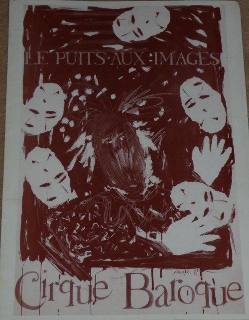 A vendre / On sale / Zu verkaufen / En venta / для продажи :  Programme Cirque Baroque - Le Puits aux Images 1987?