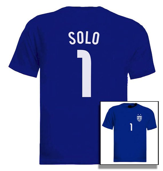Hope Solo Jersey goalkeeper T-Shirt USA National Team Women Soccer 2015 WorldCup
