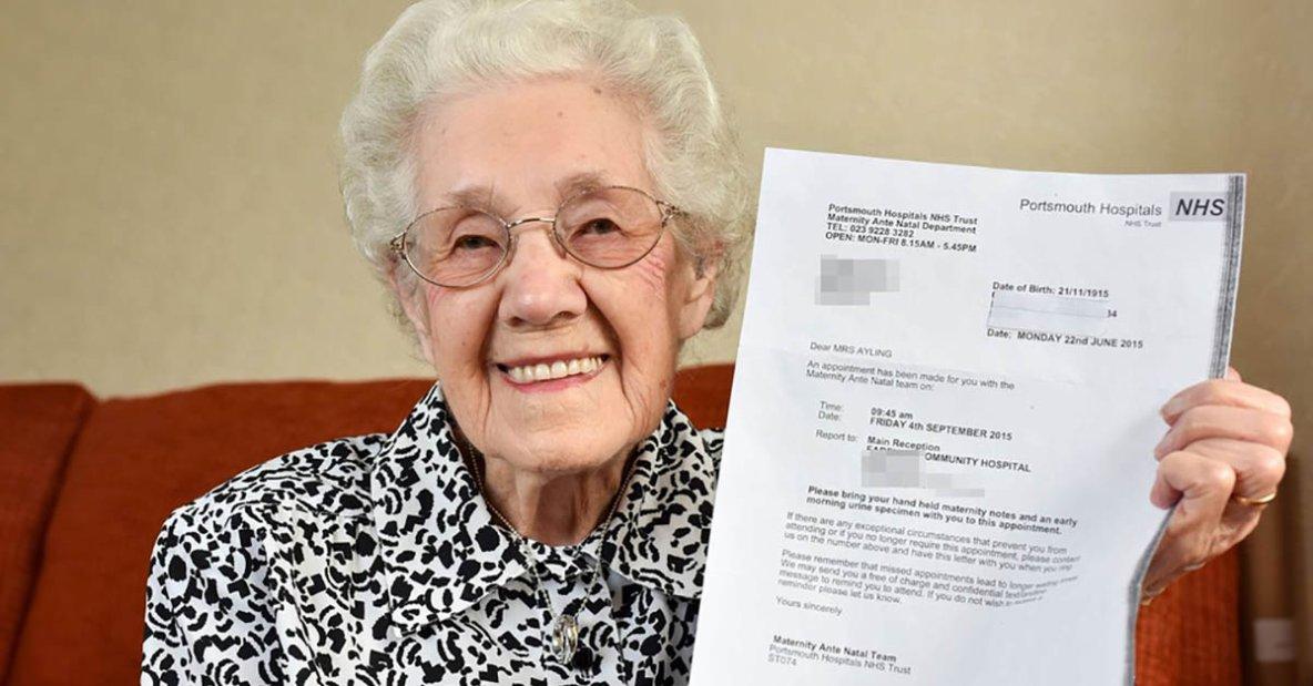 A 99 ans, elle reçoit une lettre de l'hôpital confirmant qu'elle est enceinte - Le Lorrain