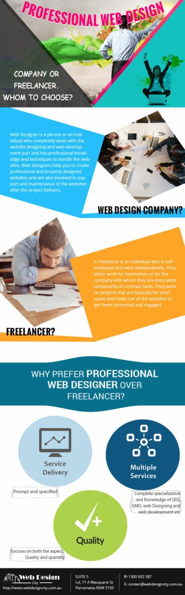 Professional Web Design Company Or Freelancer. Whom To Choose? – Infographic