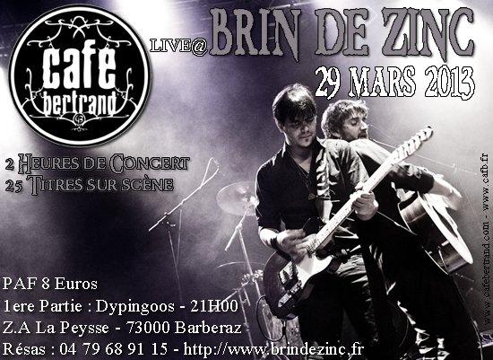 CAFB enflamme le Brin de Zinc le 29 Mars | cafb