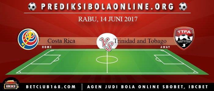Prediksi Costa Rica Vs Trinidad and Tobago 14 Juni 2017