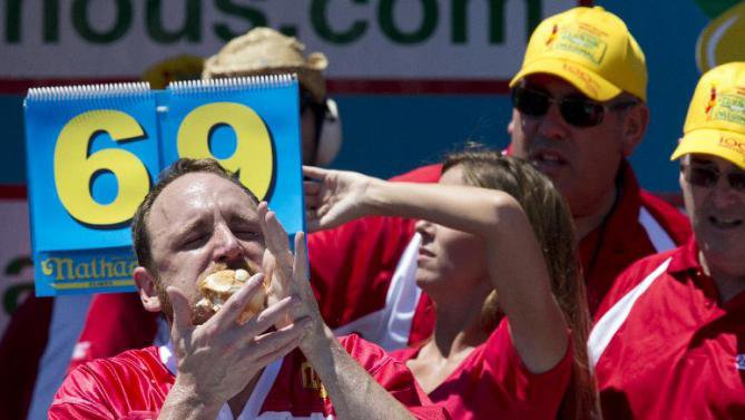 Top Discussion: Joey Chestnut downs record 70 hot dogs in eating contest