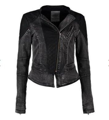 Veste en jean noir femme zalando
