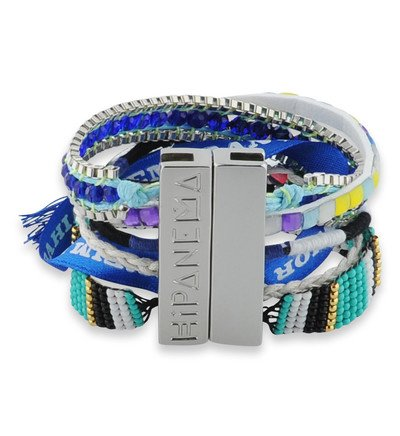 bracelet manchette hipanema fluoblue hipanema multicolore galeries lafayette tendance mode femme. Black Bedroom Furniture Sets. Home Design Ideas