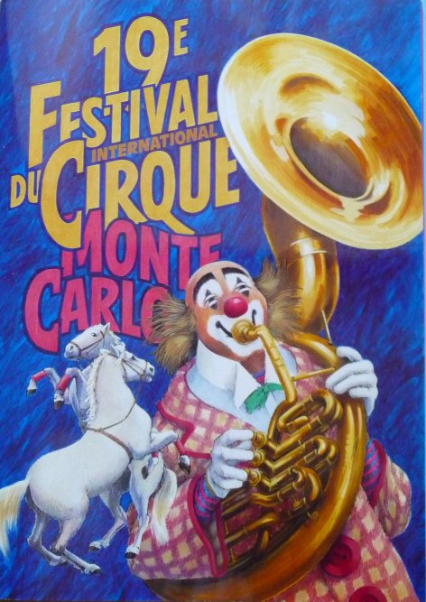 Programme 19ème Festival International du cirque de Monte-Carlo 1995 - 2