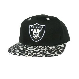 Casquette Los Angeles Raiders Customisee avec un Tissu imprime Leopard Noir et Gris et dessous en Cuir Noir - Snapback Officielle NFL - EDITION LIMITEE: Amazon.fr: Bienvenue