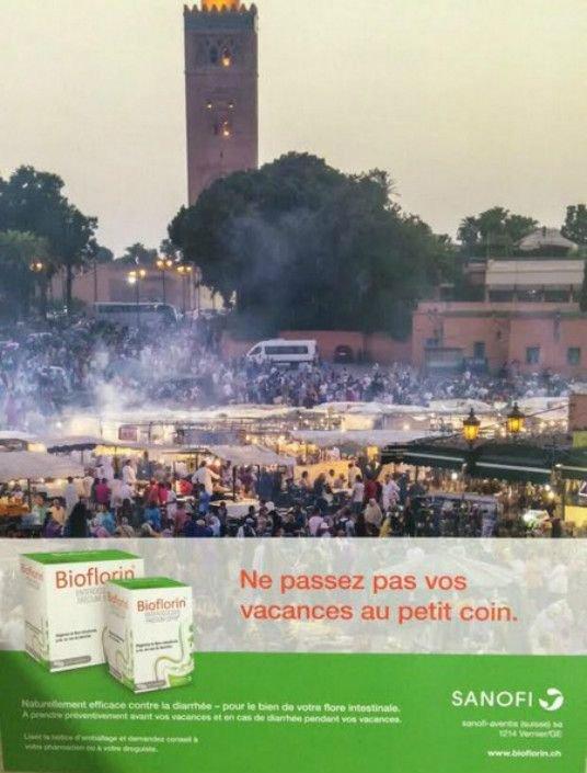 Maroc : une pub de Sanofi associe Marrakech à un produit contre la diarrhée