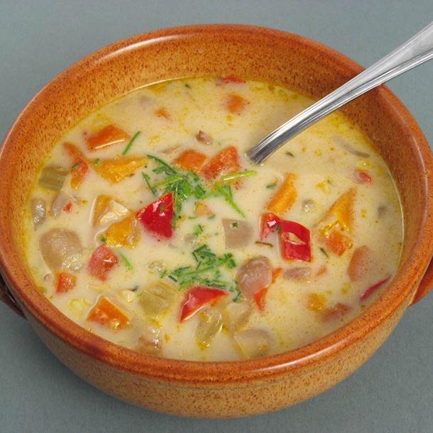 Soupe au blé d'inde pauvre en sel