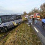 Voiture contre bus – deux blessés gravement