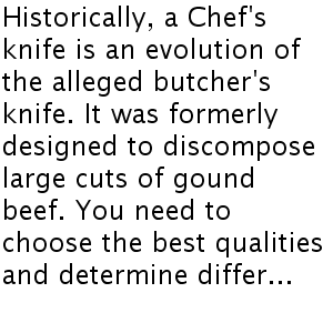 Points to consider When Buying a Great Chef's Cutting knife