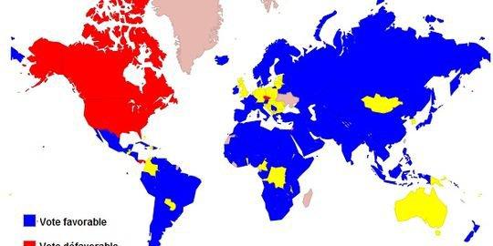 Qui a voté quoi à l'ONU sur la Palestine ?