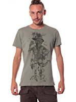 T-Shirt Pour Homme 100% Coton - Imprimé original Pirate - Look Rock Hipster - Edition limitée - Par Street Habit: Amazon.fr: Vêtements et accessoires