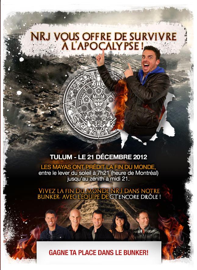 NRJ organise une soirée pour la fin du monde !