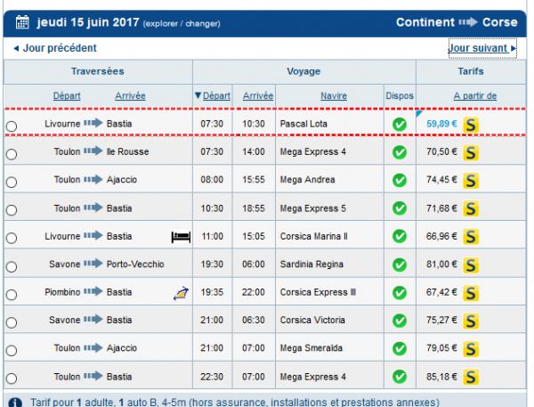 - Corsica Ferries : Pascal Lota -