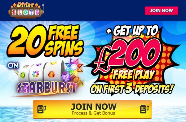 Come play at brand new site Divine Slots
