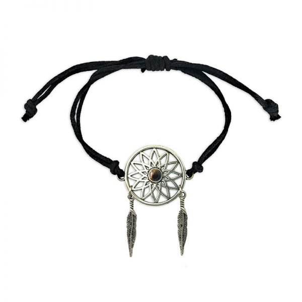 Bracelet Attrape-Rêves - Magie des Bijoux - 12 Pierres minérales
