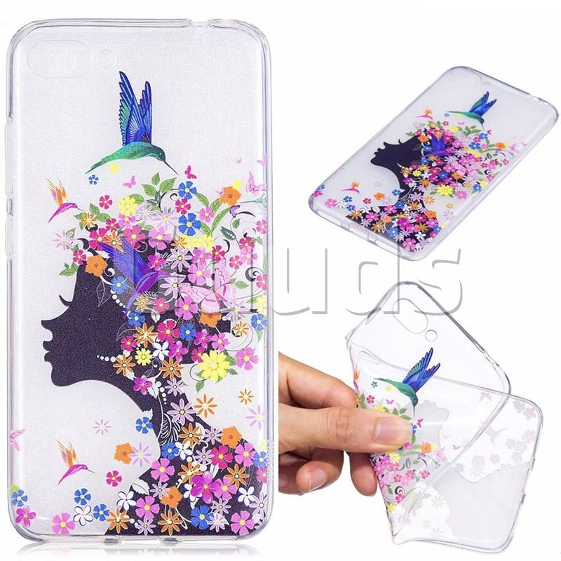 Floral Bird Girl Super Clear Soft TPU Back Cover for Asus Zenfone 4 Max ZC554KL Pro Plus - TPU Case - Guuds