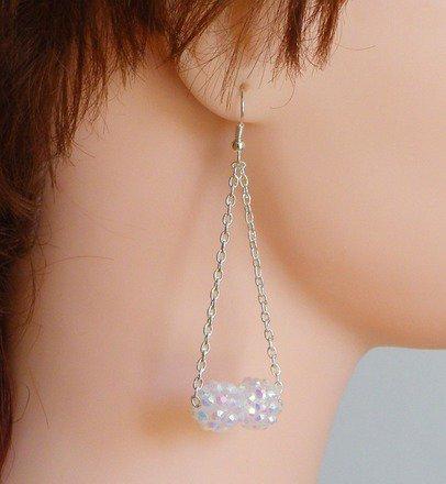 Boucle d'oreille double shamballa Argent 925 : Boucles d'oreille par jl-bijoux-creation