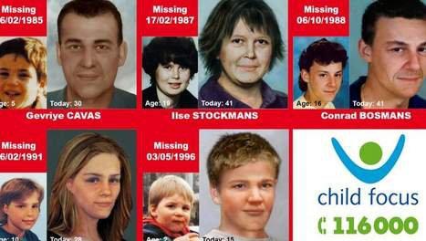 Child Focus lanceert verouderingsfoto's in vijf verdwijningszaken