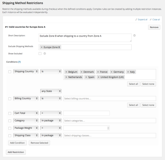 WooCommerce Conditional Shipping and Payments 1.2.4 Extension - Get Lot