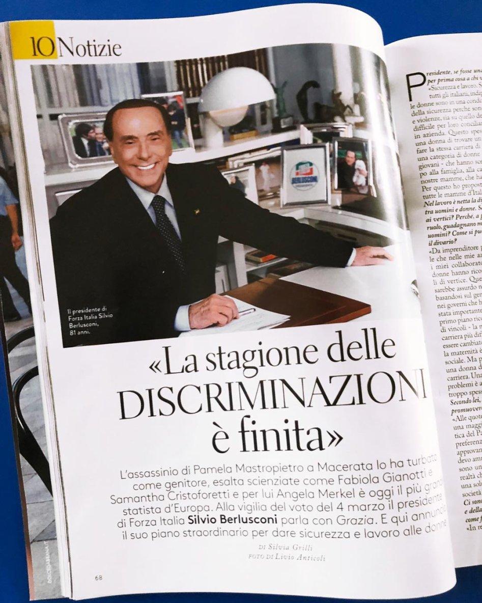 Silvio Berlusconi on Instagram: interview avec SILVIA GRILLI sur la sécurité