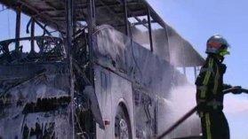 A.9 : un autocar brûle avec 39 enfants à bord - France 3 Languedoc-Roussillon
