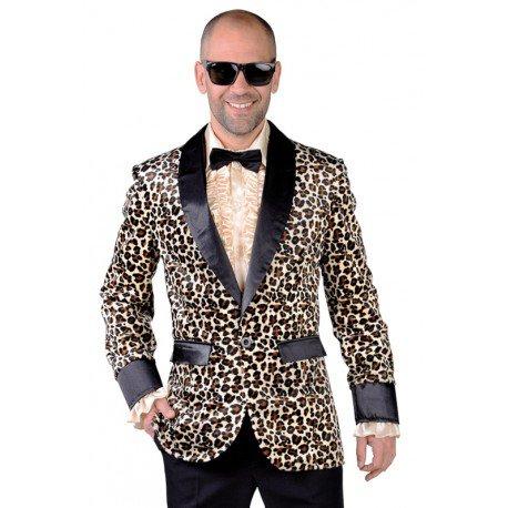 Déguisement veste léopard homme : Veste Colbert léopard Costume adulte