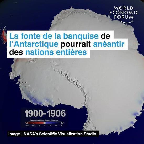 La fonte de la banquise de l'Antarctique pourrait anéantir des nations entières @wef_fr