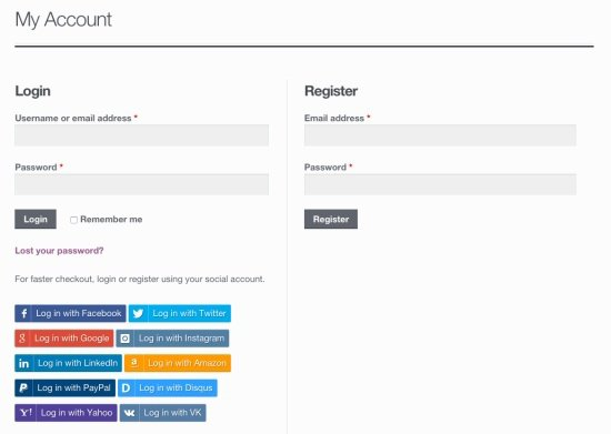 WooCommerce Social Login 2.0.4 Extension
