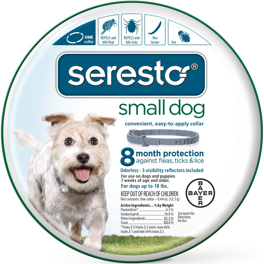 The Seresto Flea Collars provides effective protection from fleas and ticks on dogs and cats for eight months