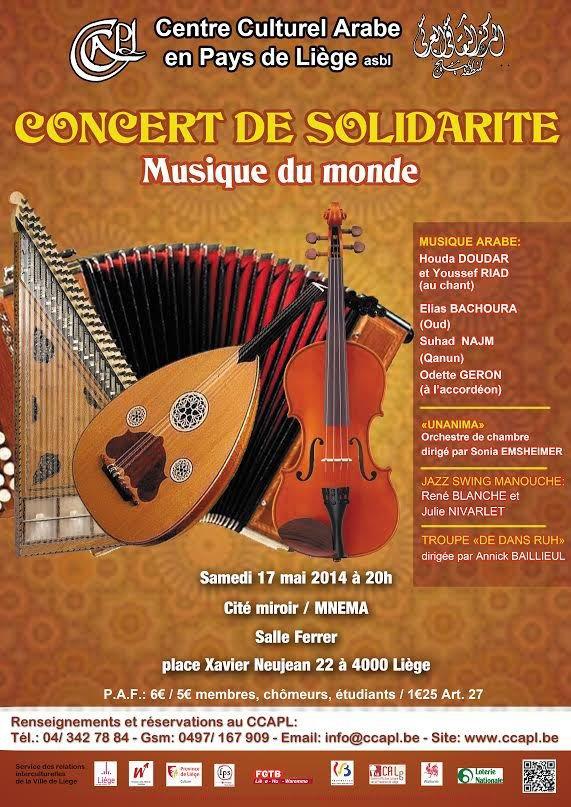 Concert de musique orientale et occidentale à la Cité Miroir, ce samedi 17 mai 2014 - Last night in Orient