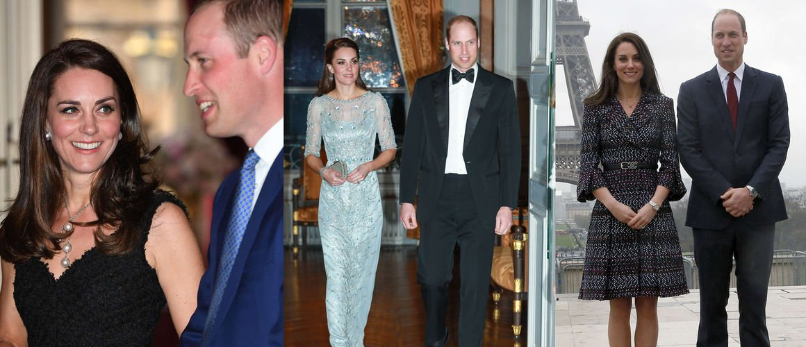 Dîners, visites... Les photos de Kate Middleton et du prince William à Paris ! (DIAPO)
