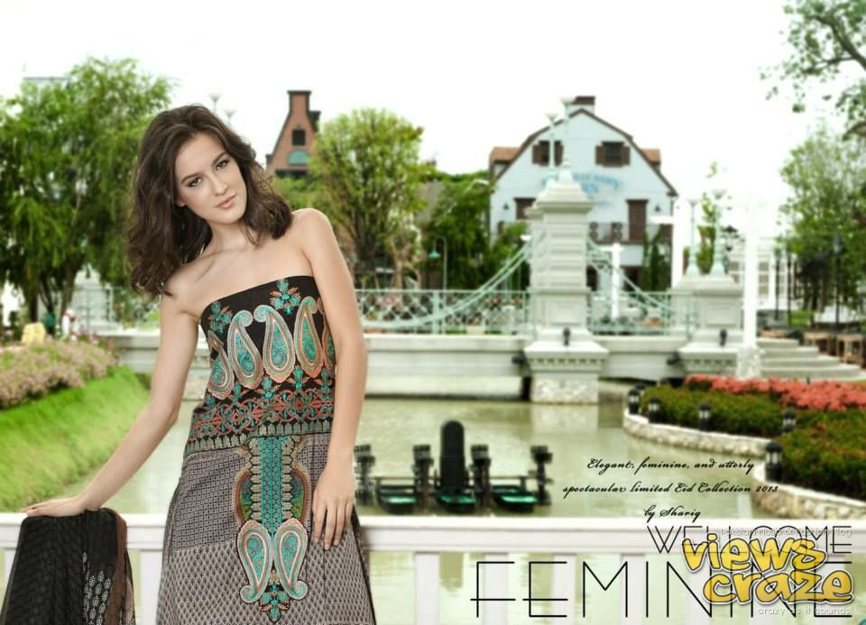 Pakistani Fashion Style: Post 1,, Feminine Limited Edition Eid Collection 2013 by Shariq Textiles