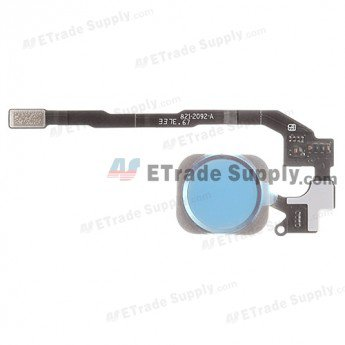 Apple iPhone 5S Home Button Assembly with Flex Cable Ribbon - White