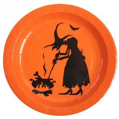Assiettes carton sorcière Halloween les 10 : Assiettes déco de table