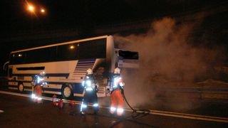 Un bus prend feu près du Gothard avec 38 enfants belges à bord