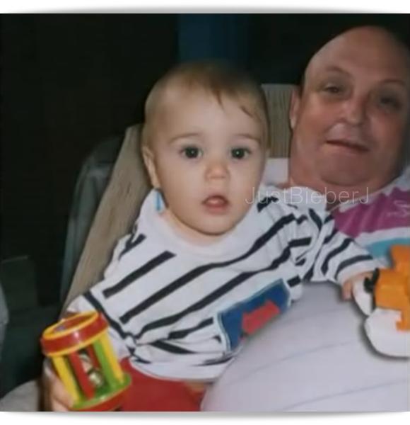 justin avec sont grand père quand il été petit