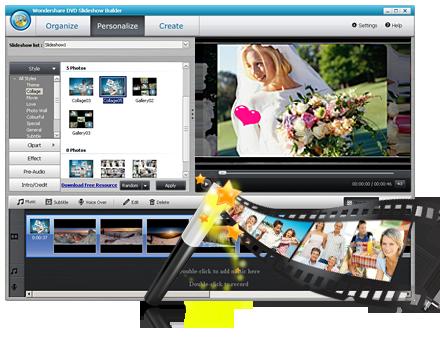 DVD Slideshow Builder - Photo DVD Slideshow Software |Wondershare