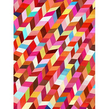 Red Red Rhombus by Melanie Mikecz Painting Print on Wrapped Canvas | Wayfair